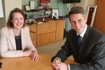 Victoria Prentis MP with Gavin Williamson